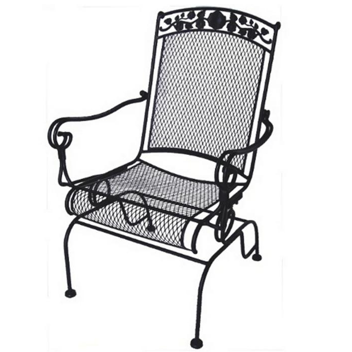Wrought Iron Patio Rocking Chairs Pertaining To Popular Wrought Iron Rocking Chair Patio Furniture – Patio Designs (View 20 of 20)