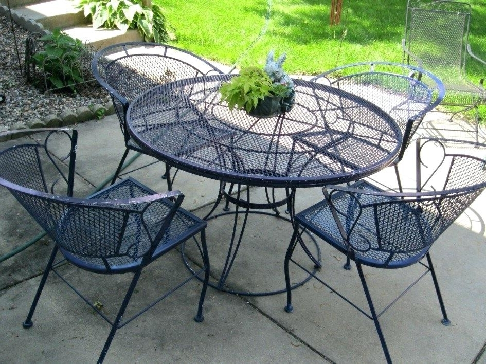 Wrought Iron Rocker Chair Image Of New Wrought Iron Patio Furniture Throughout Trendy Iron Rocking Patio Chairs (View 19 of 20)