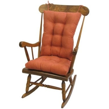 Xl Rocking Chairs For 2017 Klear Vu Twillo Xl 2 Pc. Rocker Chair Cushion Set (Gallery 15 of 20)