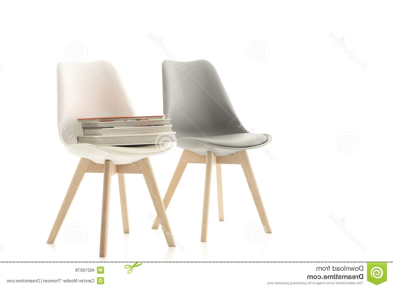 2017 A Matching Grey And White Modern Chair Stock Photo – Image Of Design Regarding Pilo Grey Side Chairs (View 1 of 20)