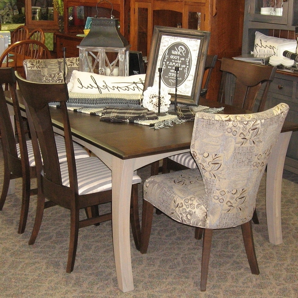 """2017 Chandler Fabric Side Chairs For 48"""" X 72"""" Chandler Dining Table With 4 12"""" Leaves, Set Includes  (View 1 of 20)"""