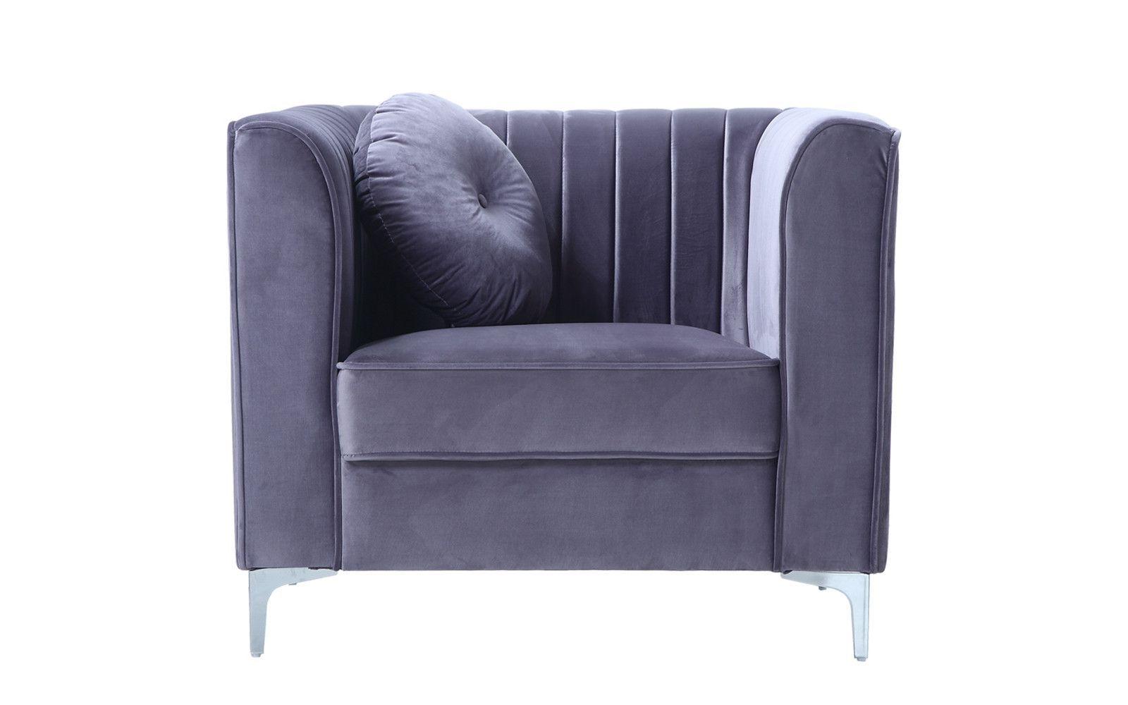 2017 Ciara Classic Old Hollywood Boudoir Velvet Armchair (Gallery 8 of 20)