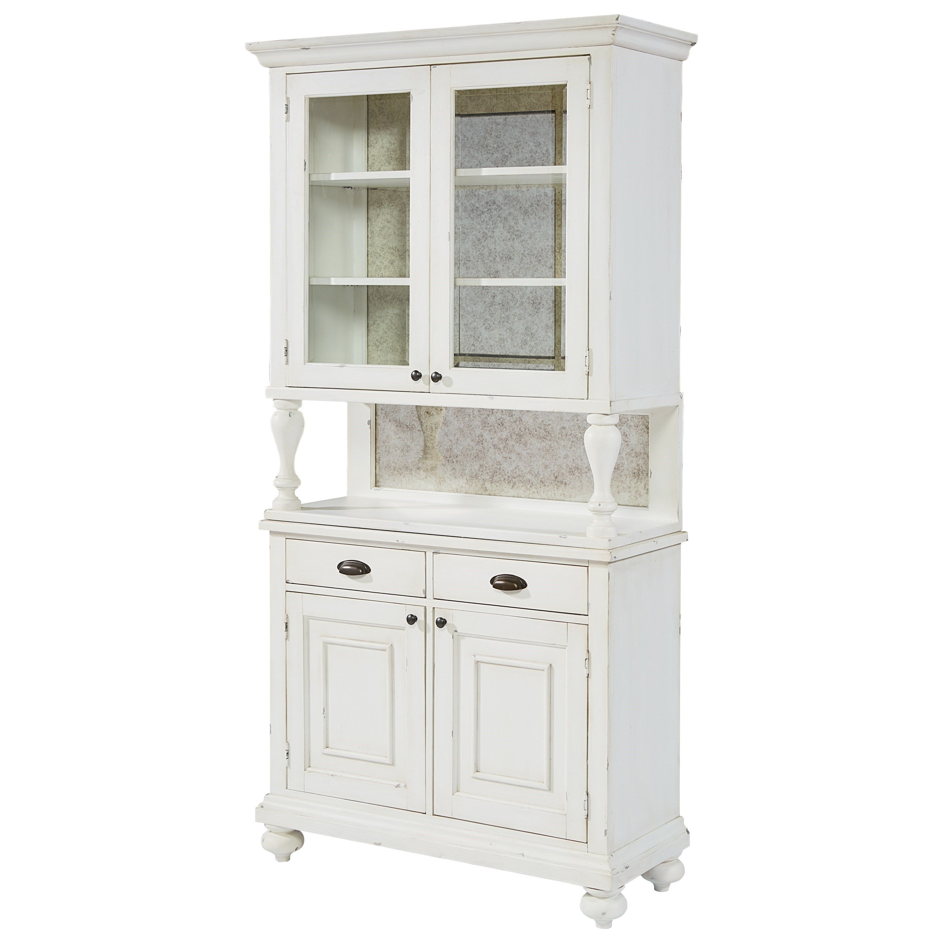 2017 Magnolia Home Hamilton Saddle Side Chairs In Magnolia Homejoanna Gaines Farmhouse Dish Hutch And Dish Cabinet (View 14 of 20)