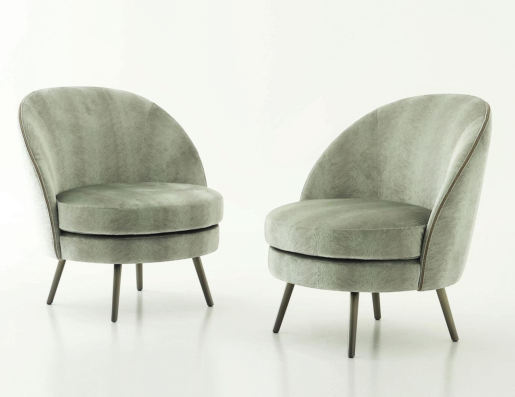 2017 Nella Vetrina Rugiano Perla In Beige Upholstered Leather Armchair Regarding Perla Side Chairs (Gallery 8 of 20)