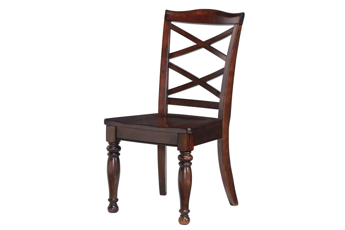 2017 Porter Dining Room Side Chairs In Rustic Brown Set Of 2 Modern Intended For Cintra Side Chairs (View 5 of 20)