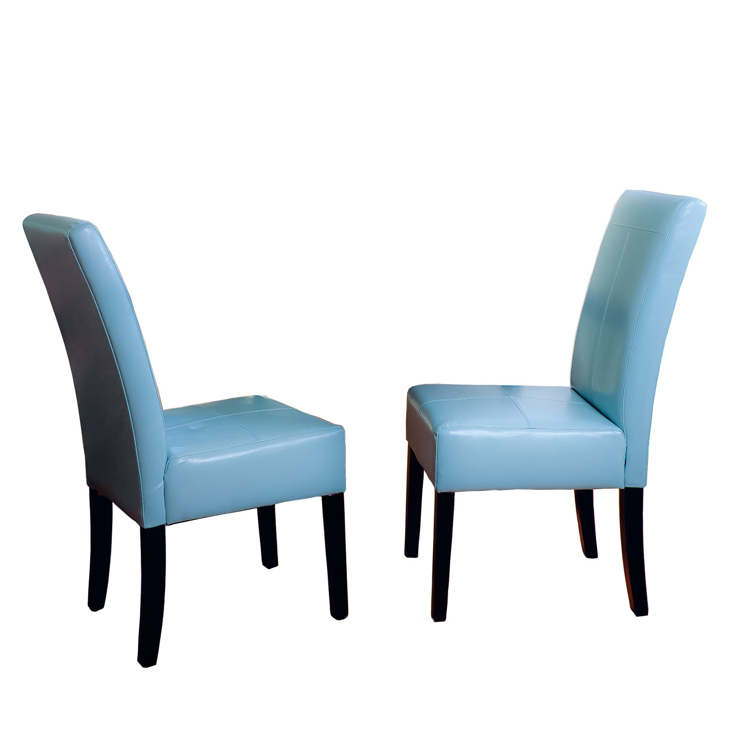 2018 Amazon – Stella Teal Blue Leather Dining Chair (set Of 2) – Chairs With Celler Grey Side Chairs (View 3 of 20)