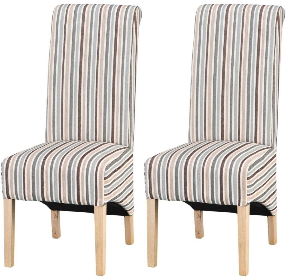 2018 Blue Stripe Dining Chairs With Buy Design 05 – Duck Egg Blue Stripe Dining Chair (Pair) Online – Cfs Uk (View 2 of 20)
