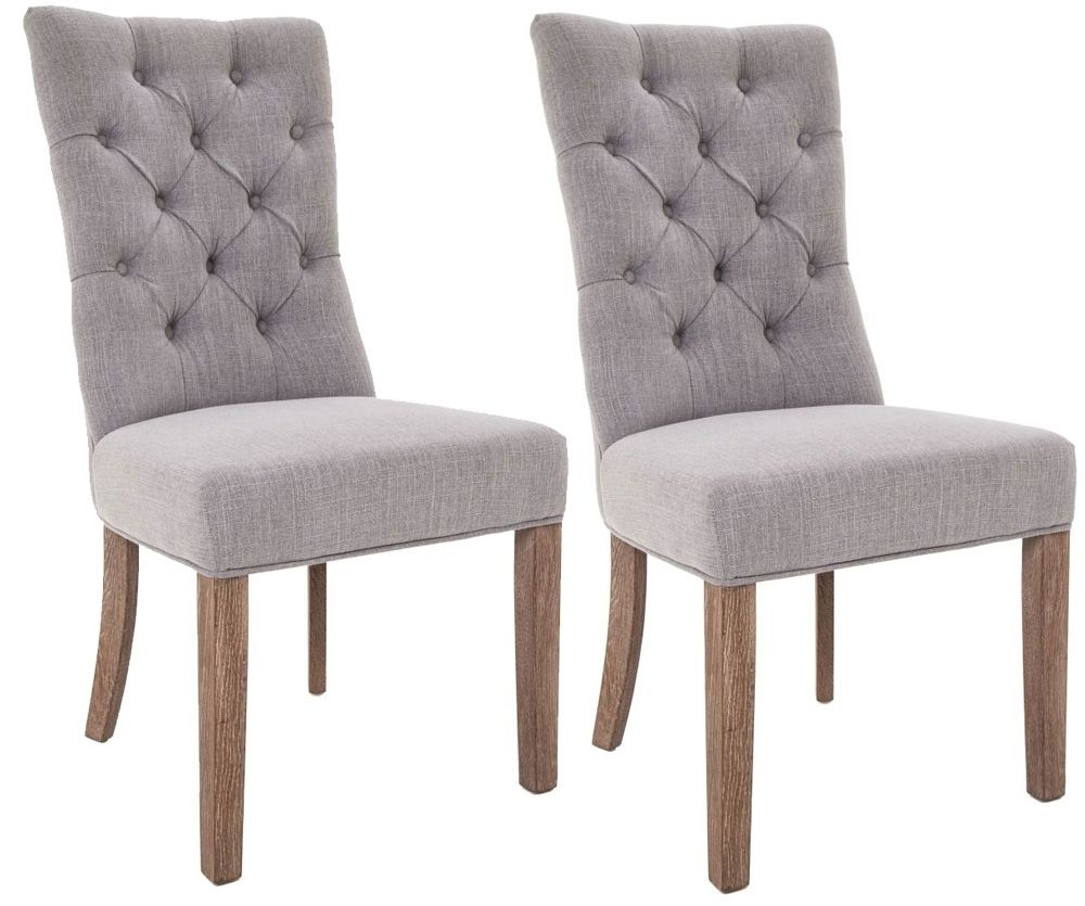 2018 Buy Rv Astley Grey Linen Dining Chair (Pair) Online – Cfs Uk In Grey Dining Chairs (View 1 of 20)