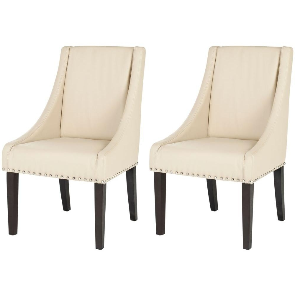 2018 Caira Upholstered Diamond Back Side Chairs With Regard To Safavieh – Beige – Chairs – Living Room Furniture – The Home Depot (View 2 of 20)
