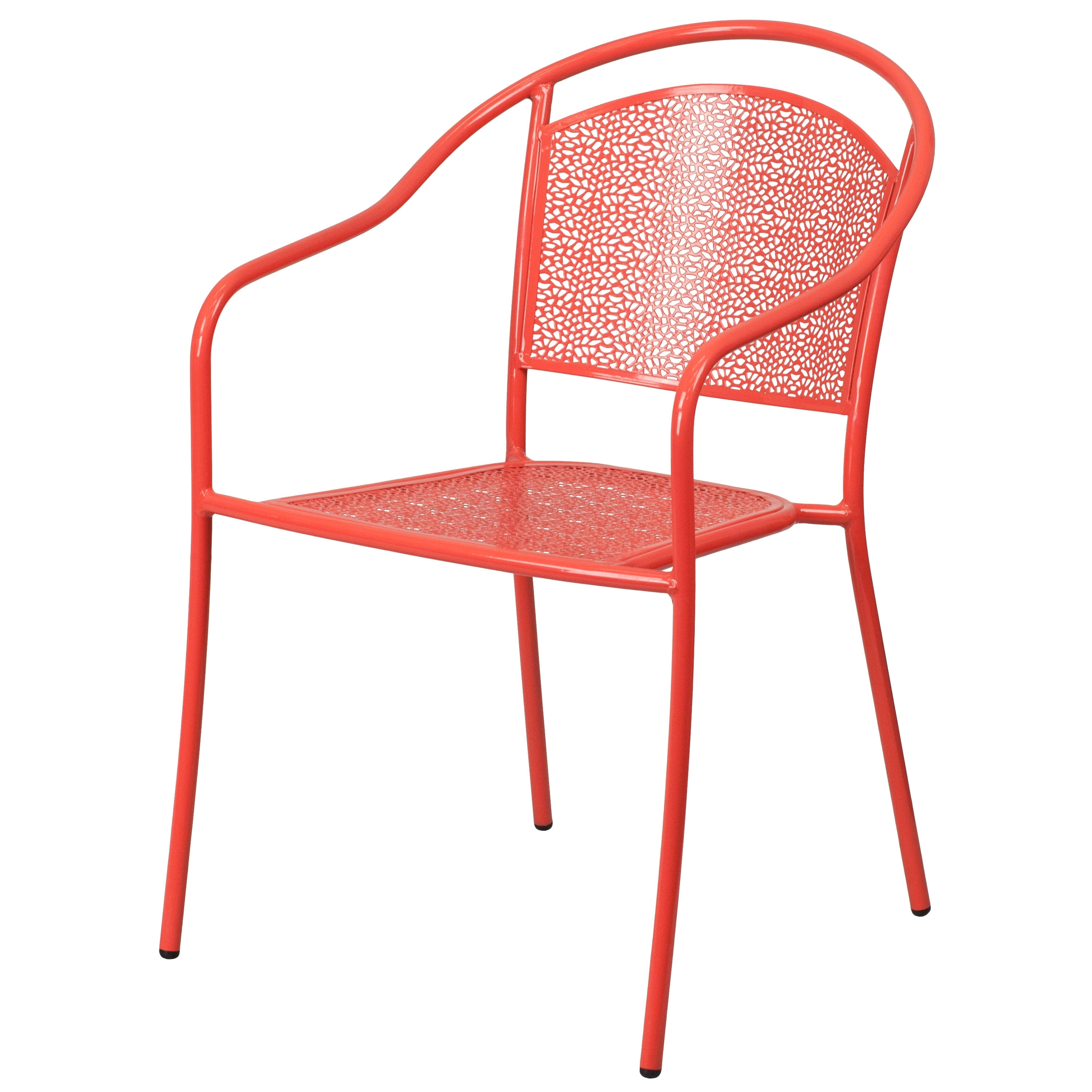 2018 Cora Ii Arm Chairs Throughout Flash Furniture Coral Indoor Outdoor Patio Arm Chair With Round Back (View 20 of 20)