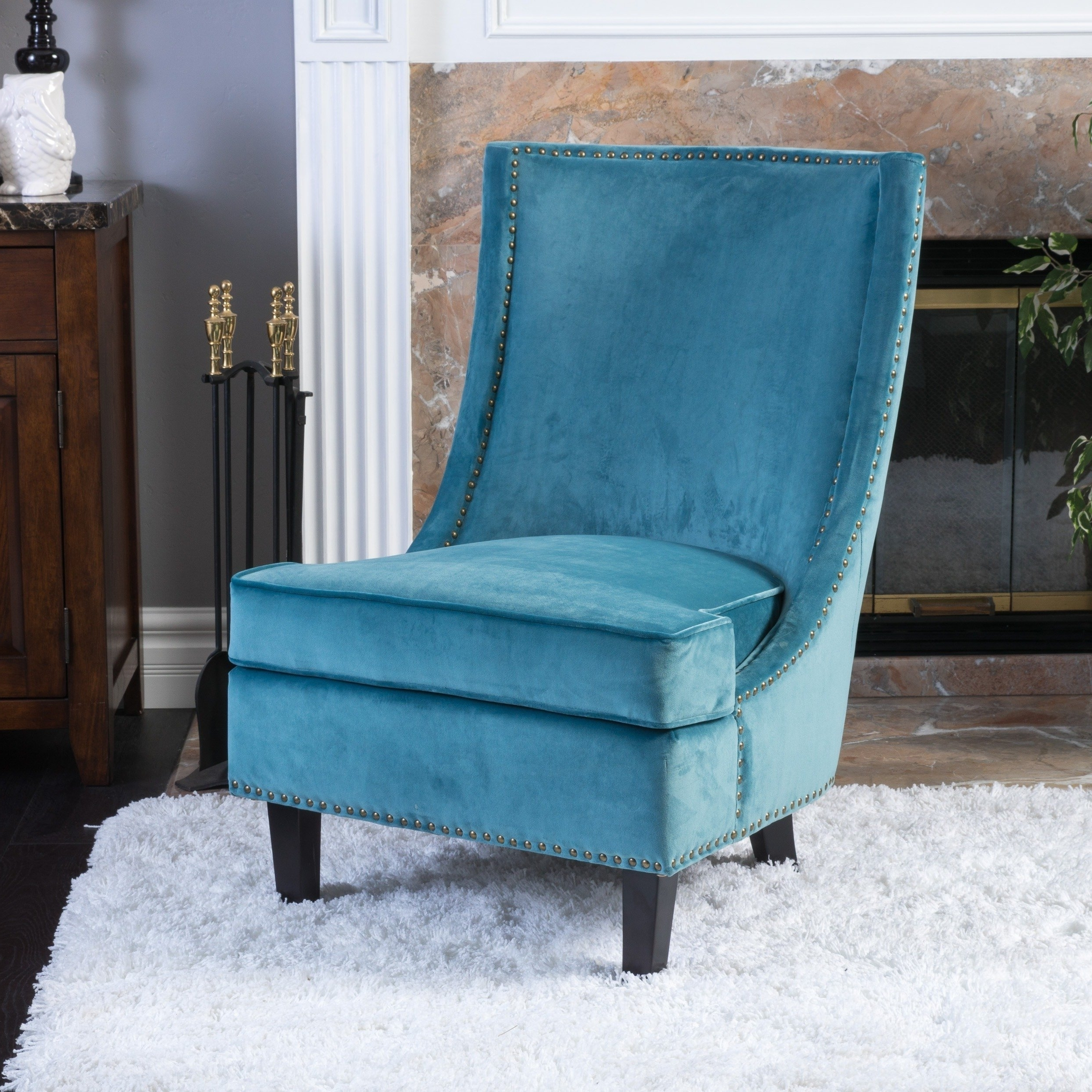 2018 Nautical Blue Side Chairs Throughout Buy Living Room Chairs Online At Overstock (Gallery 12 of 20)