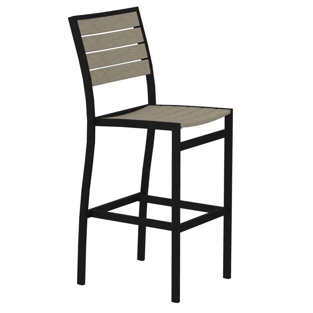 2018 Polywood Euro Textured Black All Weather Aluminum/plastic Outdoor For Delfina Side Chairs (View 13 of 20)