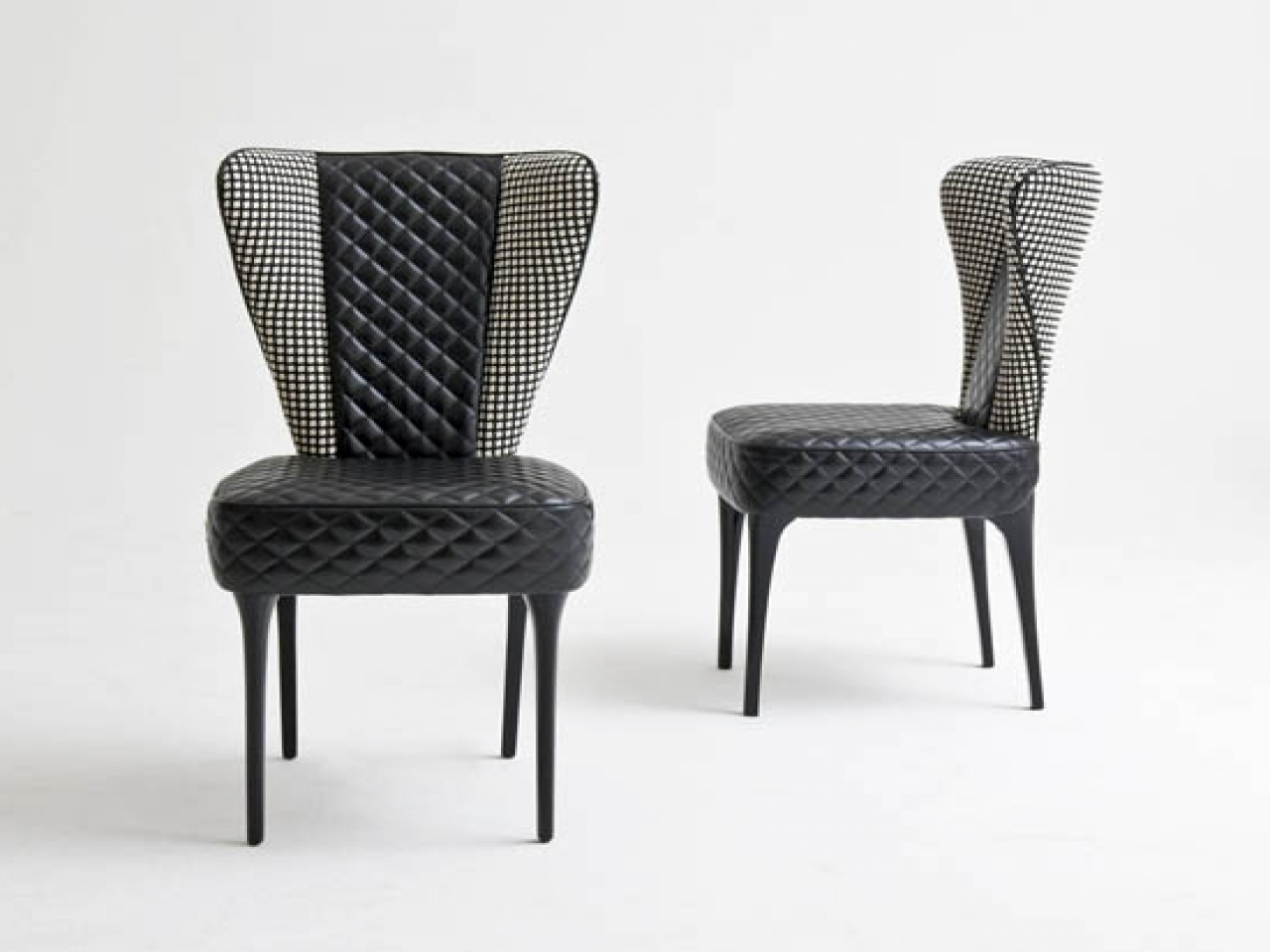 2018 Quilted Black Dining Chairs For Dining Room: Wingback Dining Chair (View 1 of 20)