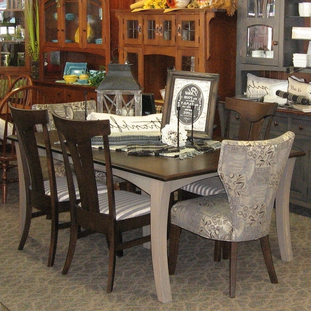 """48"""" X 72"""" Chandler Dining Table With 4 12"""" Leaves, Set Includes 4 Intended For Well Known Chandler Fabric Side Chairs (View 2 of 20)"""