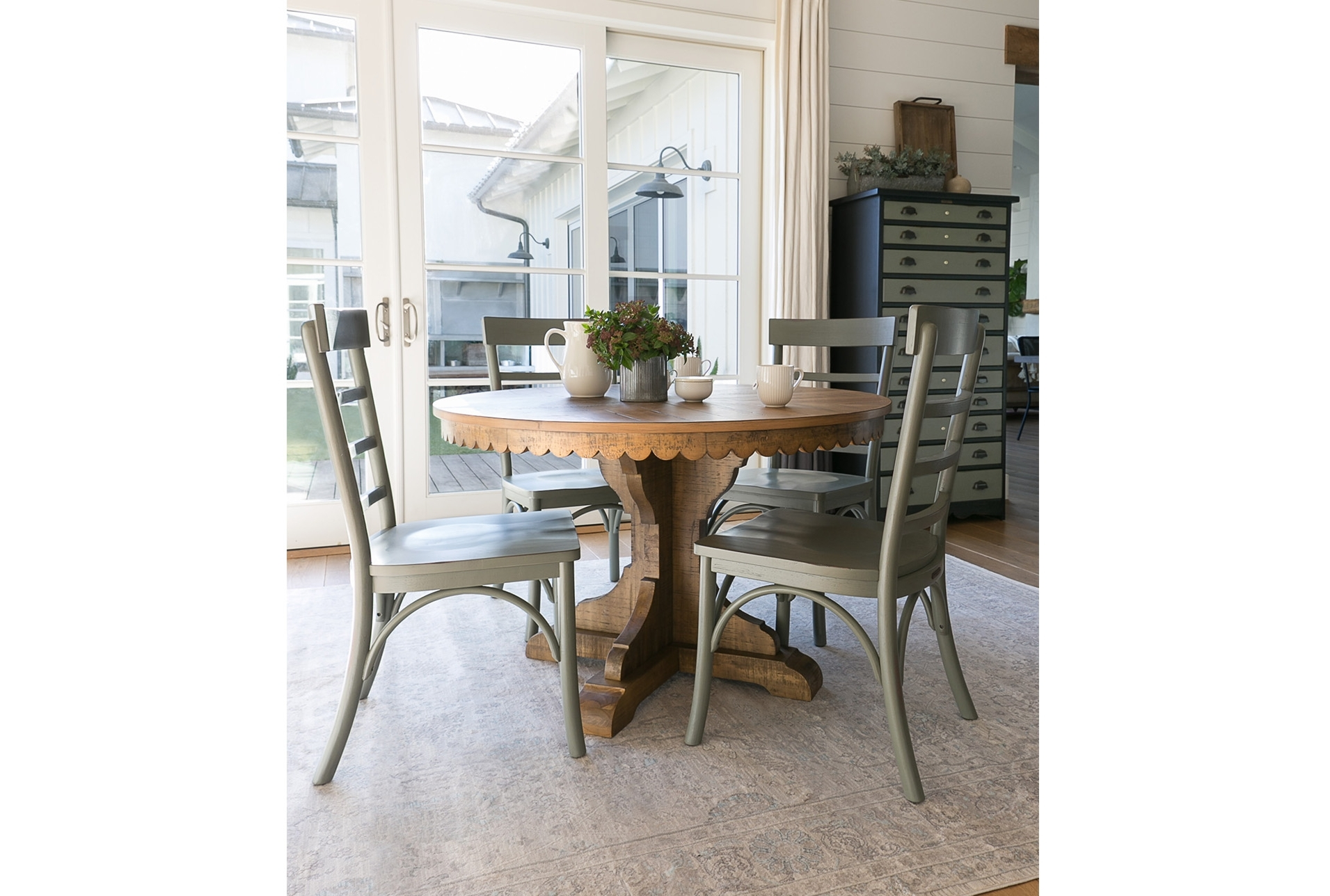 63X90 Rug Magnolia Home Ella Rose Natural/naturaljoanna Gaines Throughout Most Current Magnolia Home Harper Patina Side Chairs (Gallery 19 of 20)