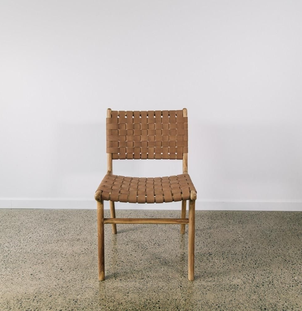 A Teak Wood Frame Forms The Base Of This Chair, Finished To Reveal Within Current Natural Brown Teak Wood Leather Dining Chairs (View 3 of 20)