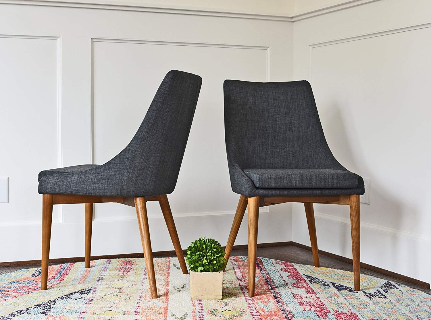Alexa Grey Side Chairs Inside Newest Amazon – Upholstered Dining Chairs – Mid Century Modern Dining (Gallery 8 of 20)