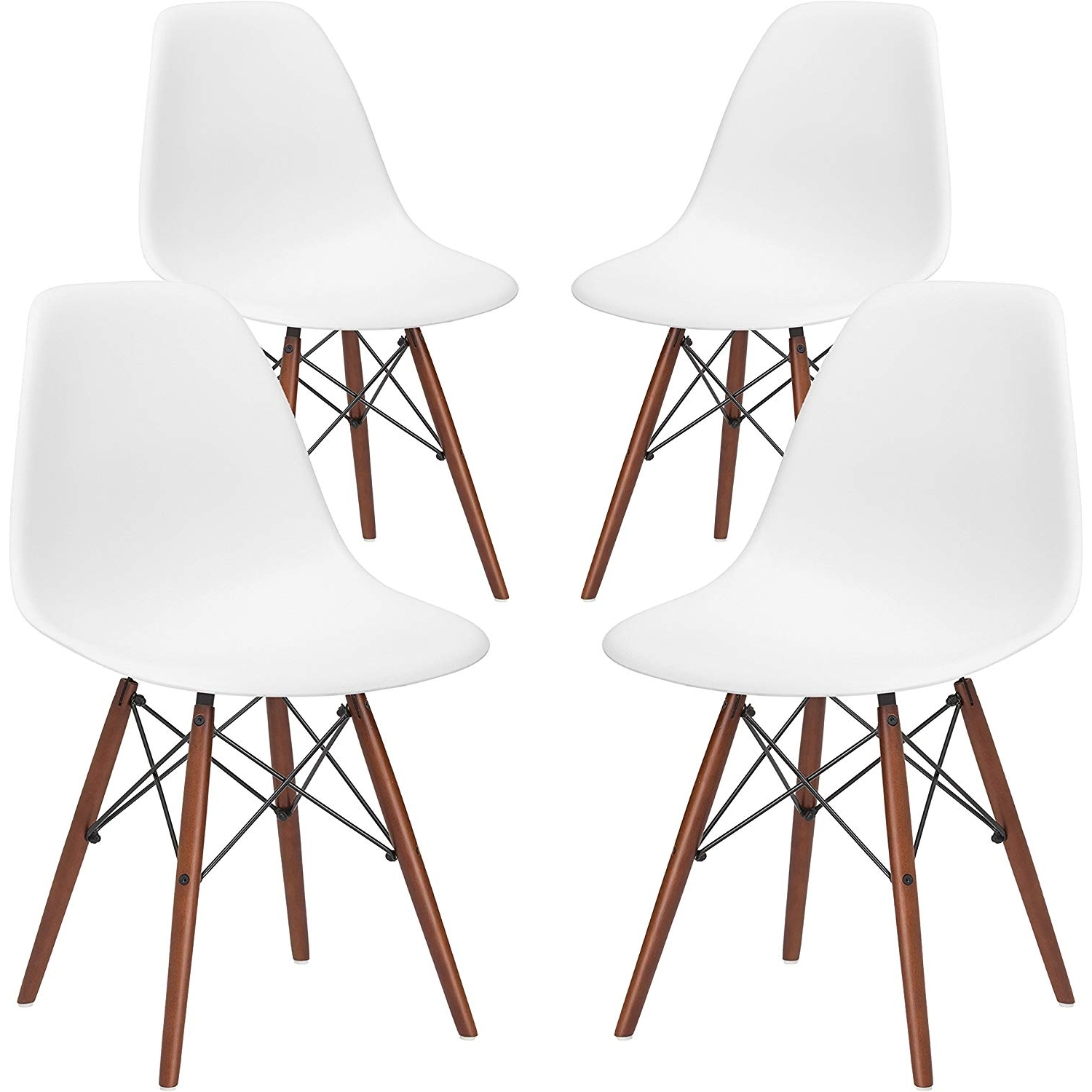 Alexa White Side Chairs Throughout Most Recently Released Amazon – Poly And Bark Vortex Side Chair With Walnut Legs In (Gallery 7 of 20)
