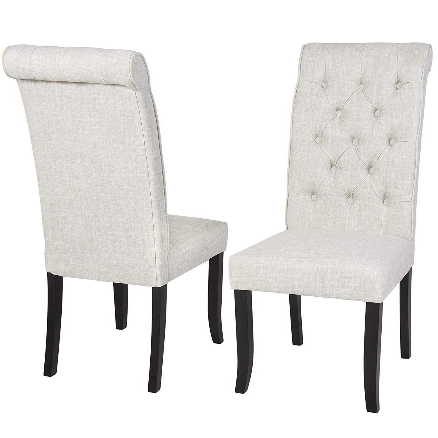 Amazon – Best Choice Products Set Of 2 Home Furniture Modern Regarding Popular Alexa Grey Side Chairs (View 9 of 20)