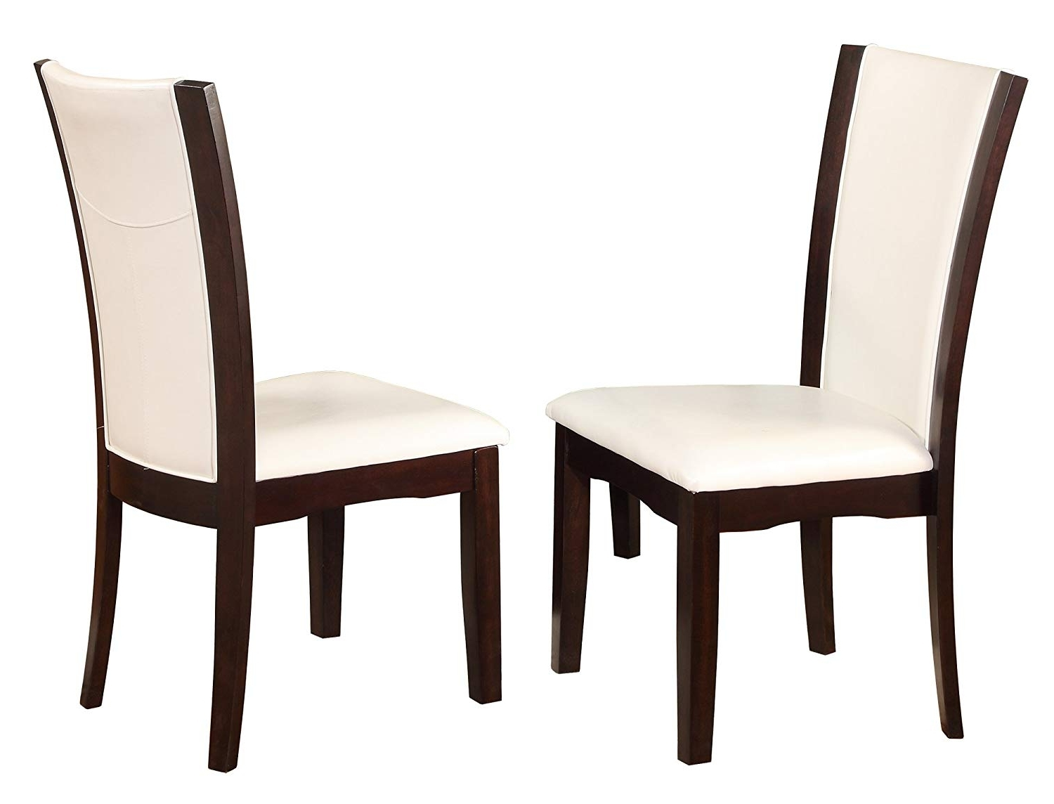 Amazon – Crown Mark Camelia Side Chair White – Set Of 2 – Chairs Throughout Best And Newest Bardstown Side Chairs (Gallery 14 of 20)