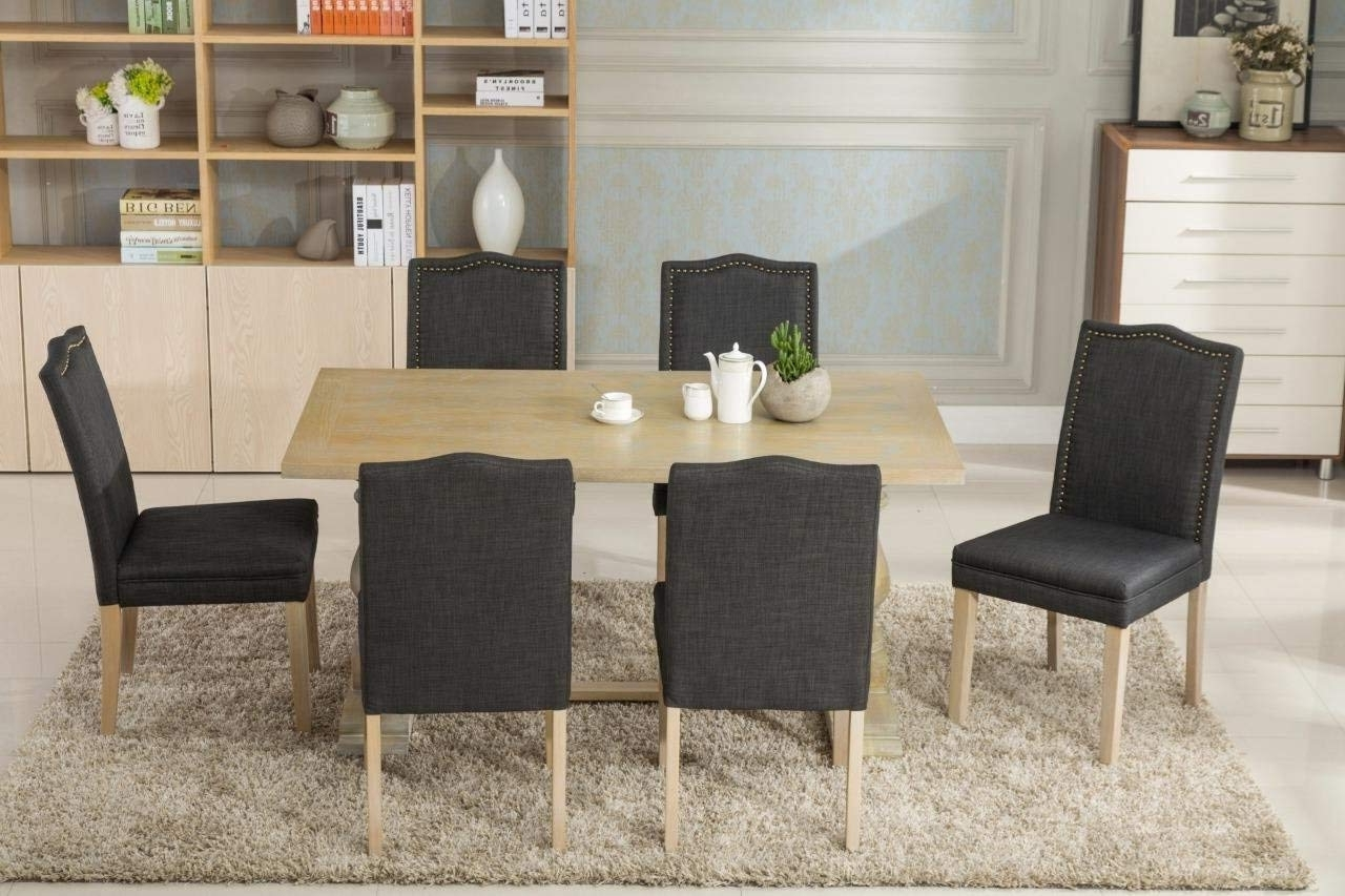 Amazon – Dara 7 Piece Dining Table Set With Chairs 6 Person In Preferred Alexa Firecracker Side Chairs (Gallery 12 of 20)