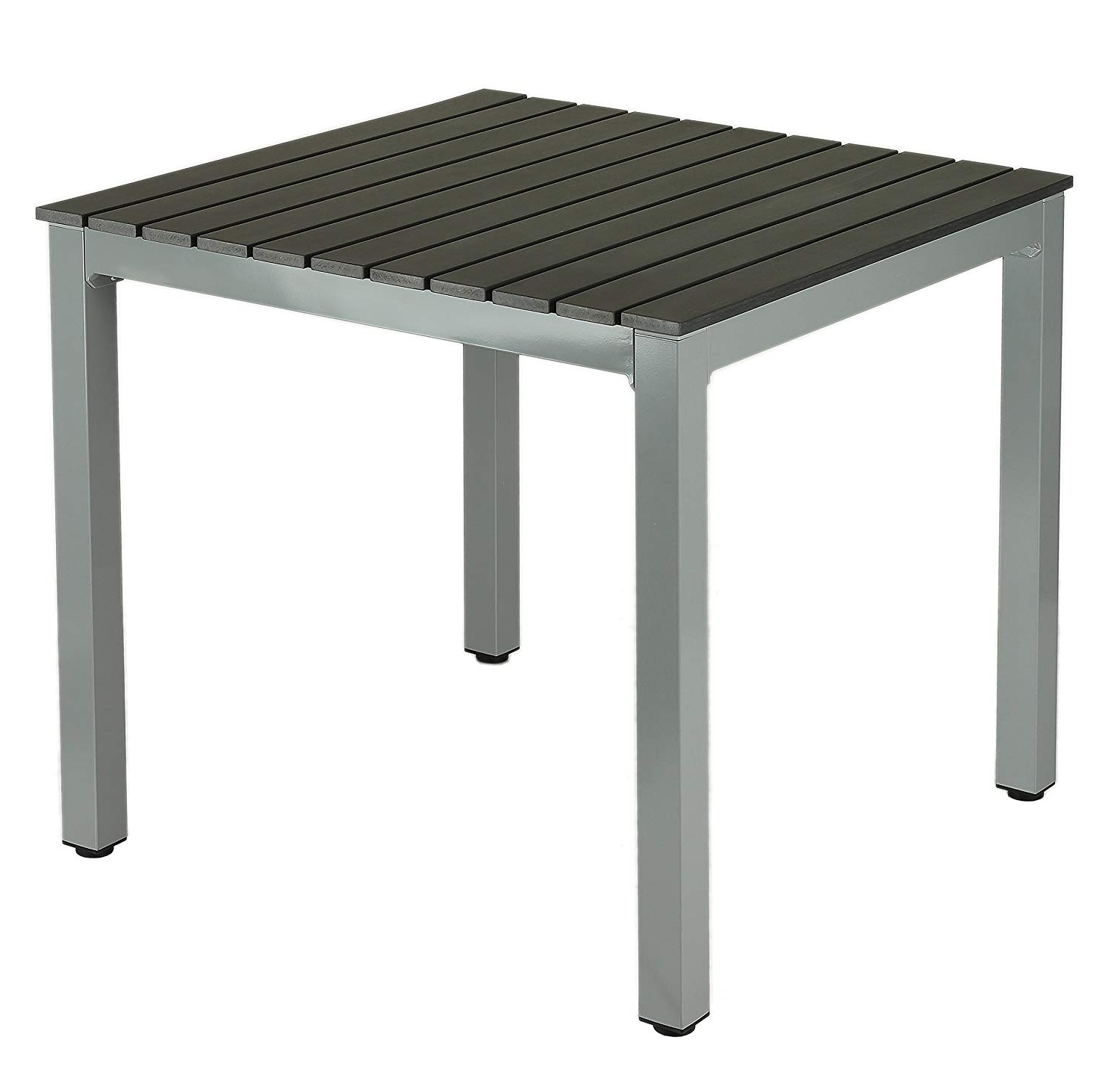 Amazon : Jaxon Aluminum Outdoor Table In Poly Wood, Silver/slate Within Popular Jaxon Grey Wood Side Chairs (View 1 of 20)