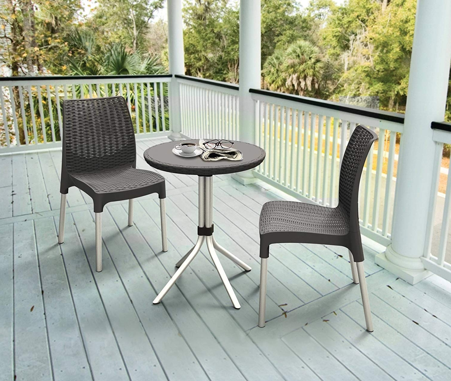 Amazon: Keter Chelsea 3 Piece Resin Outdoor Patio Furniture For Popular Garten Storm Chairs With Espresso Finish Set Of (View 3 of 20)