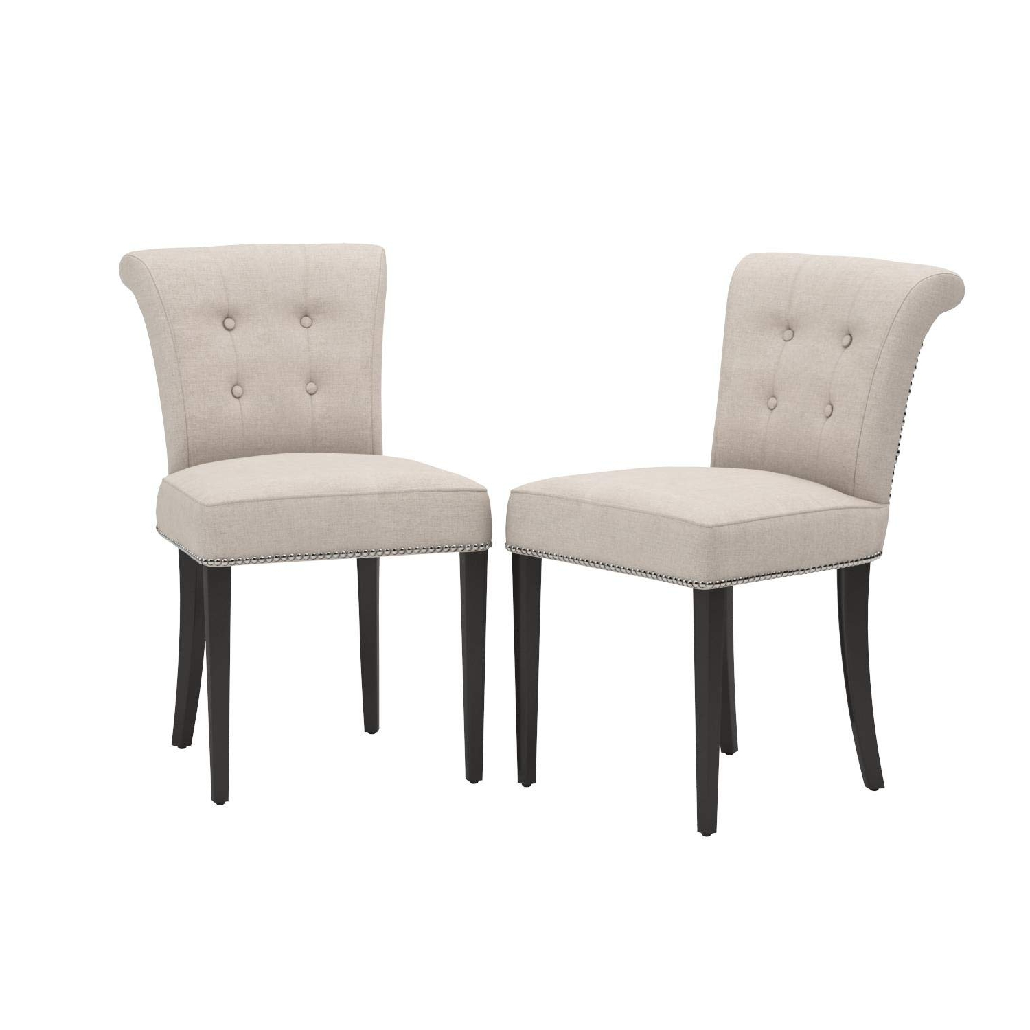 Amazon – Safavieh Mercer Collection Kyle Side Chairs, Taupe, Set Regarding Preferred Kyle Side Chairs (View 2 of 20)