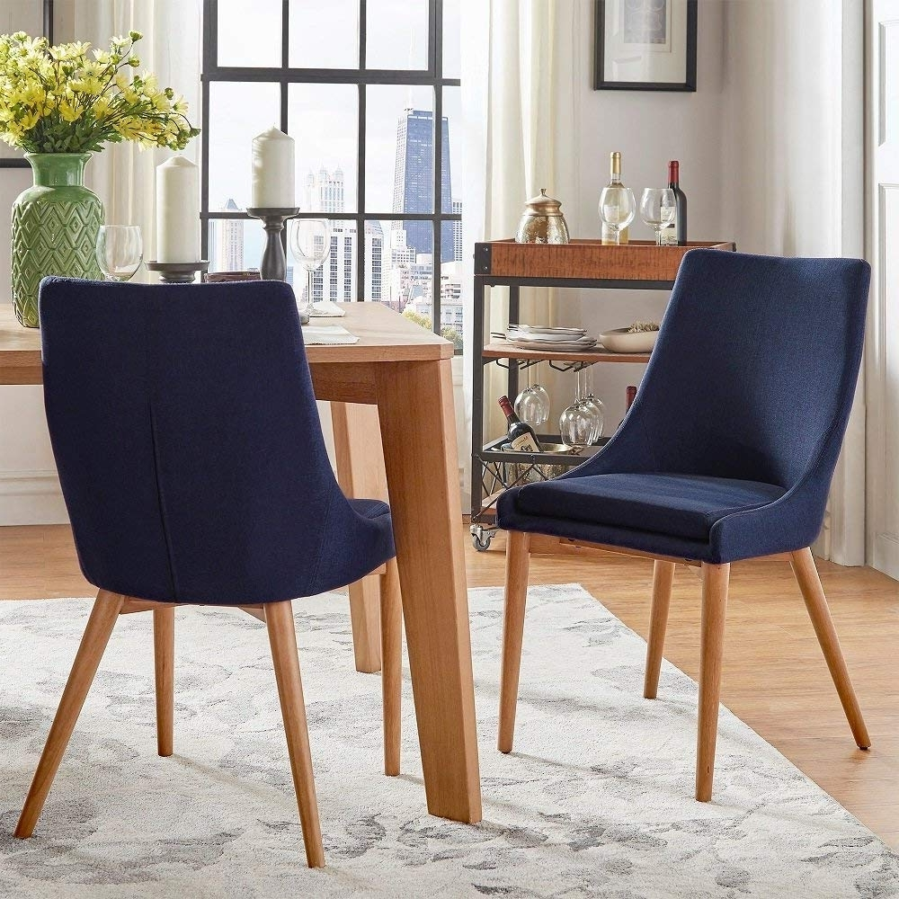 Amazon – Sasha Oak Barrel Back Side Dining Chair (Set Of 2 Within Current Dodger Side Chairs (Gallery 18 of 20)