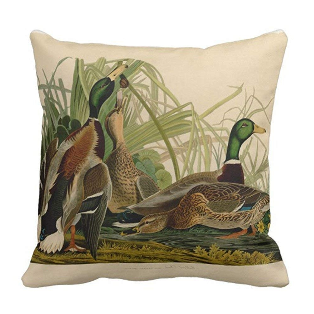 Amazon: Teens Girls Audubon Mallard Duck Bird Vintage Print For Most Current Mallard Side Chairs With Cushion (Gallery 12 of 20)