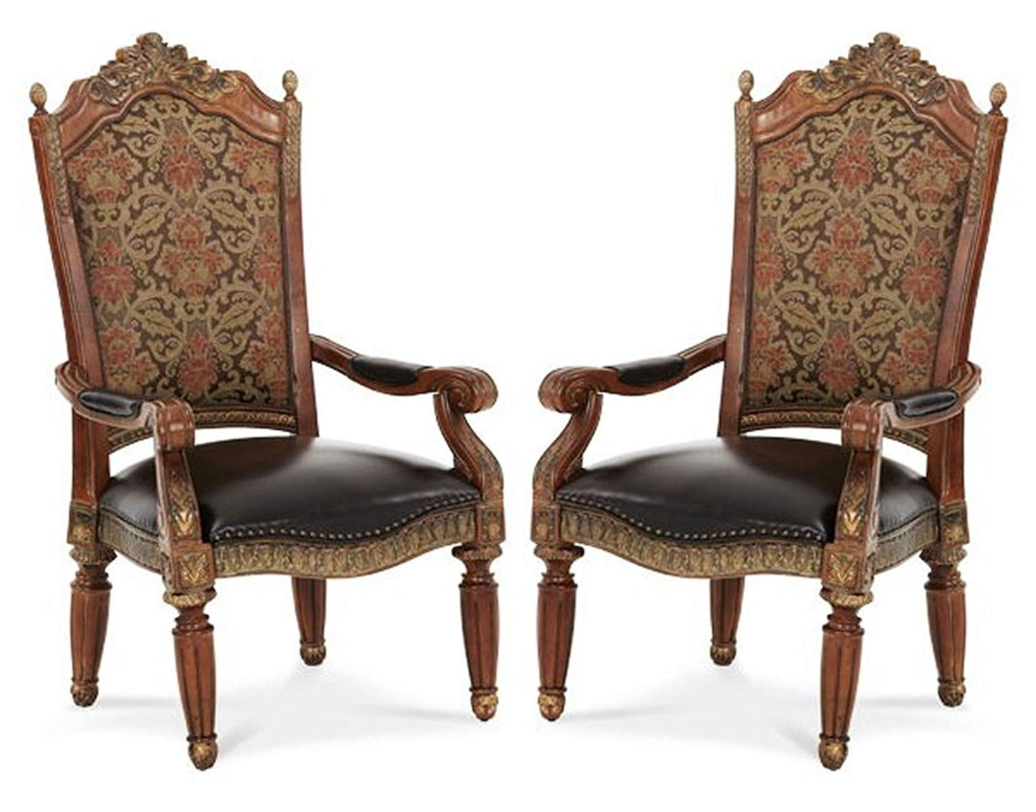 Amazon – Villa Valencia Arm Chair (Set Of 2) – Aico 72004 55 Intended For Preferred Valencia Side Chairs With Upholstered Seat (Gallery 15 of 20)