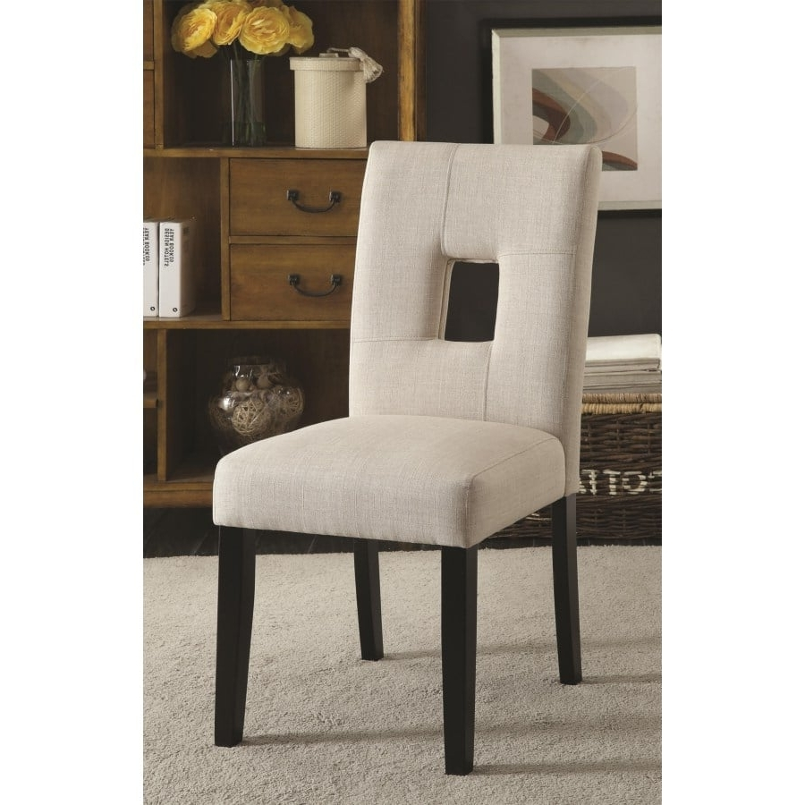 Andenne Upholstered Side Chair With Square Cutout In Seat Back With Favorite Omni Side Chairs (View 2 of 20)