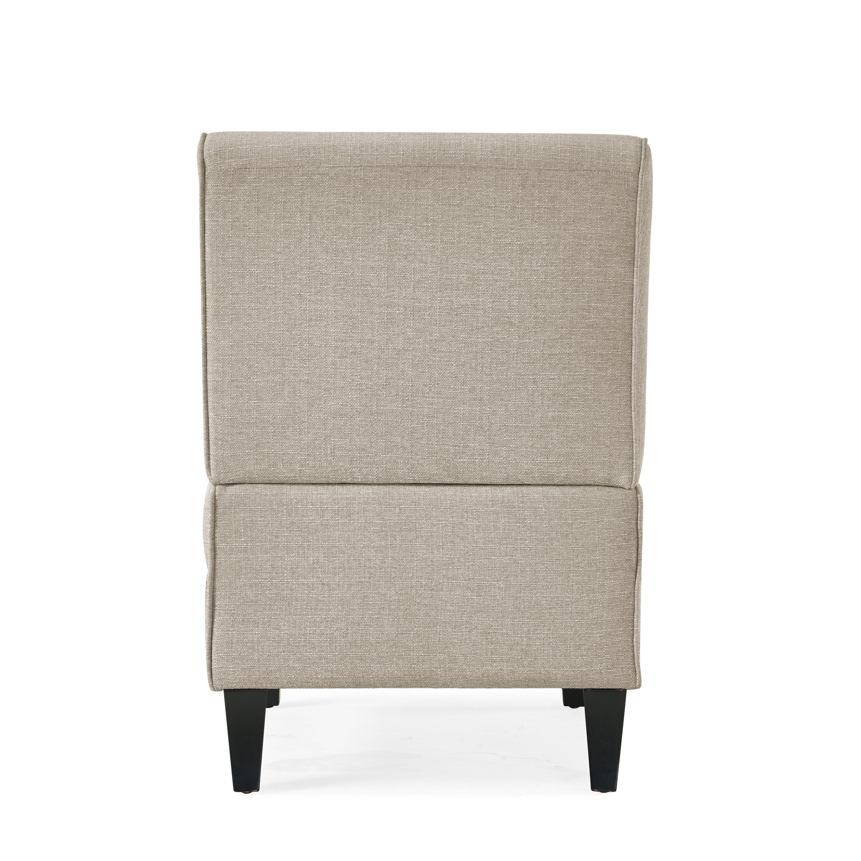 Armless Oatmeal Dining Chairs In Fashionable Shop Handy Living Courtney Oatmeal Linen Armless Chair – On Sale (View 2 of 20)
