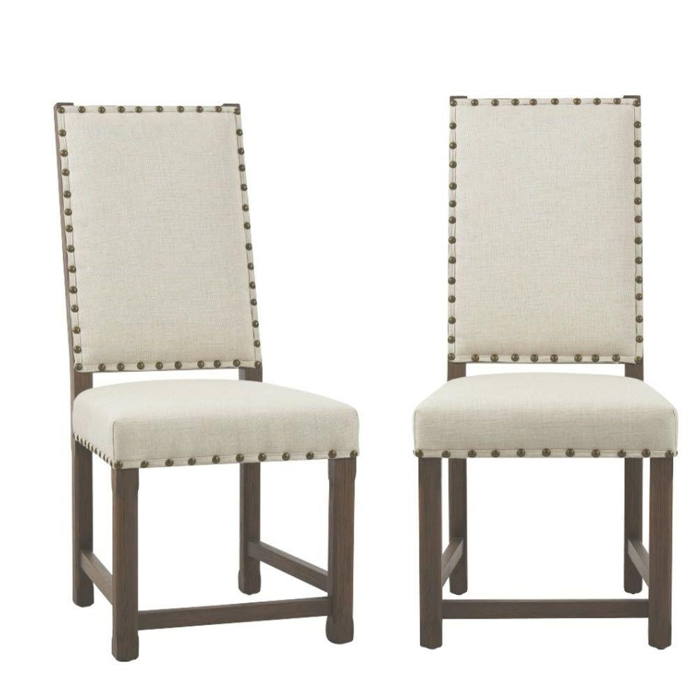 Armless Oatmeal Dining Chairs Pertaining To Most Current Home Decorators Collection Andrew Antique Grey Dining Chair (set Of (View 12 of 20)