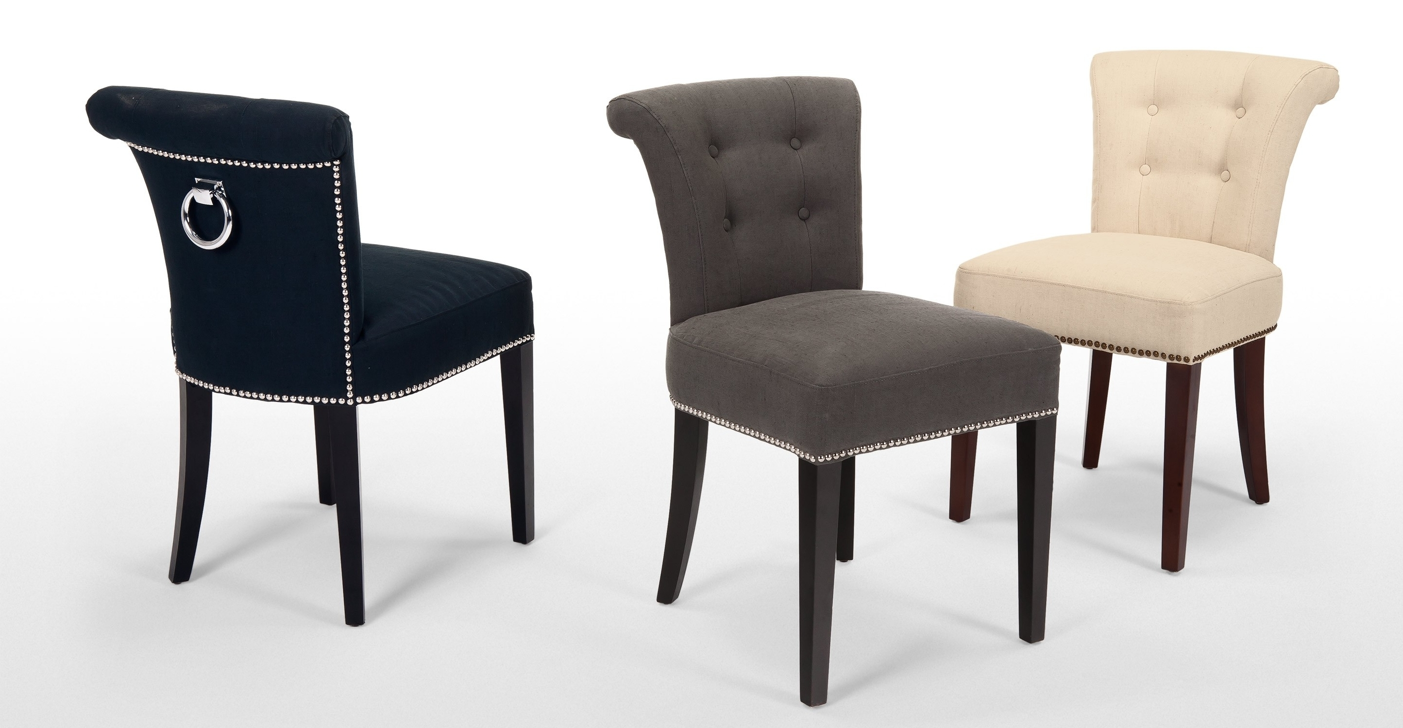 Assorted Color Dining Chair With Fabric Cover And Tufted Design Also Within Latest Dark Olive Velvet Iron Dining Chairs (View 13 of 20)