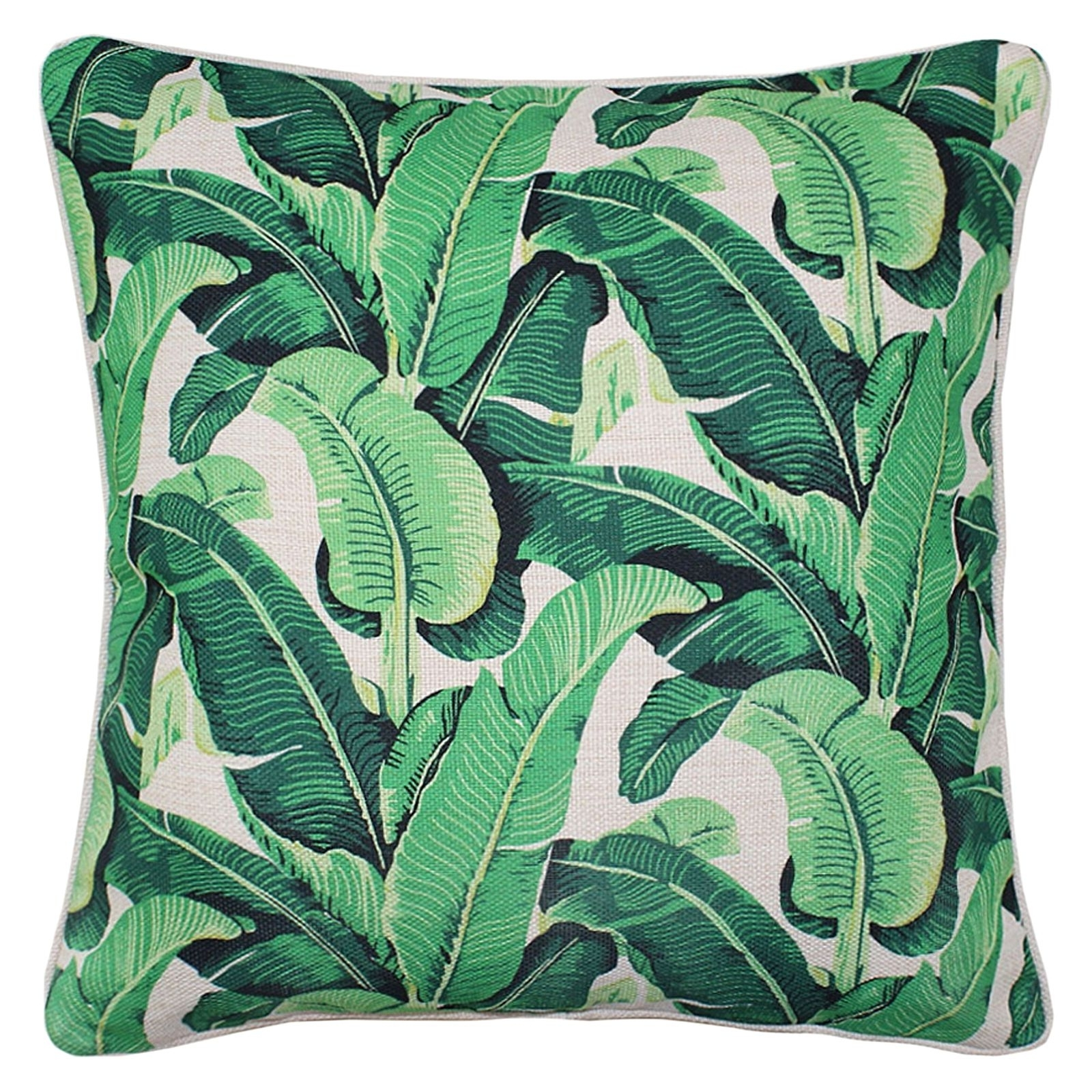 Banana Leaf Chairs With Cushion With Regard To Well Known Oasis Banana Leaf Outdoor Cushion, Beigeescape To Paradise (View 5 of 20)