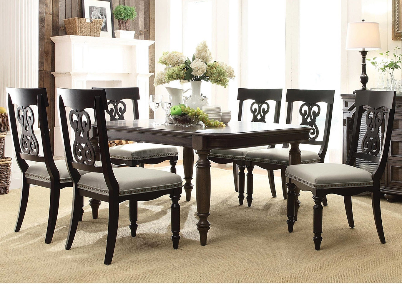 "Belmeade Side Chairs Pertaining To Well Liked Utah Furniture Direct Belmeade 78"" Extension Leaf Dining Table W/ (View 6 of 20)"