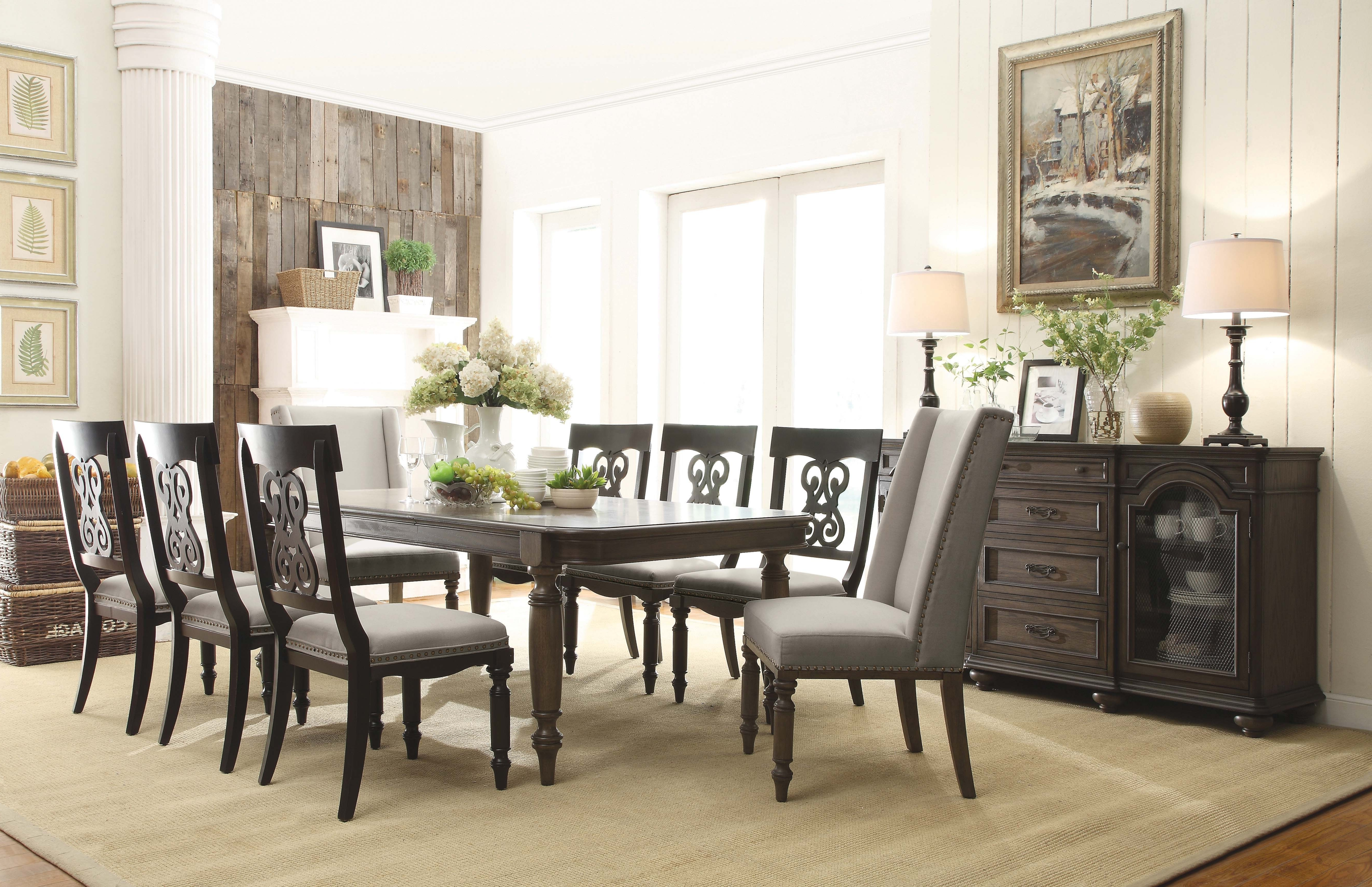 Belmeade Side Chairs Within Famous Belmeade Wood Rectangular Dining Table In Old World Oak (View 7 of 20)