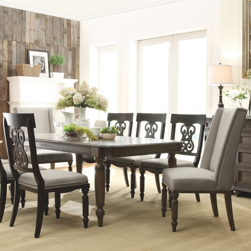 Belmeade Side Chairs Within Newest Belmeade Upholstered Hostess Chair (Set Of 2) In Old World Oak (View 8 of 20)
