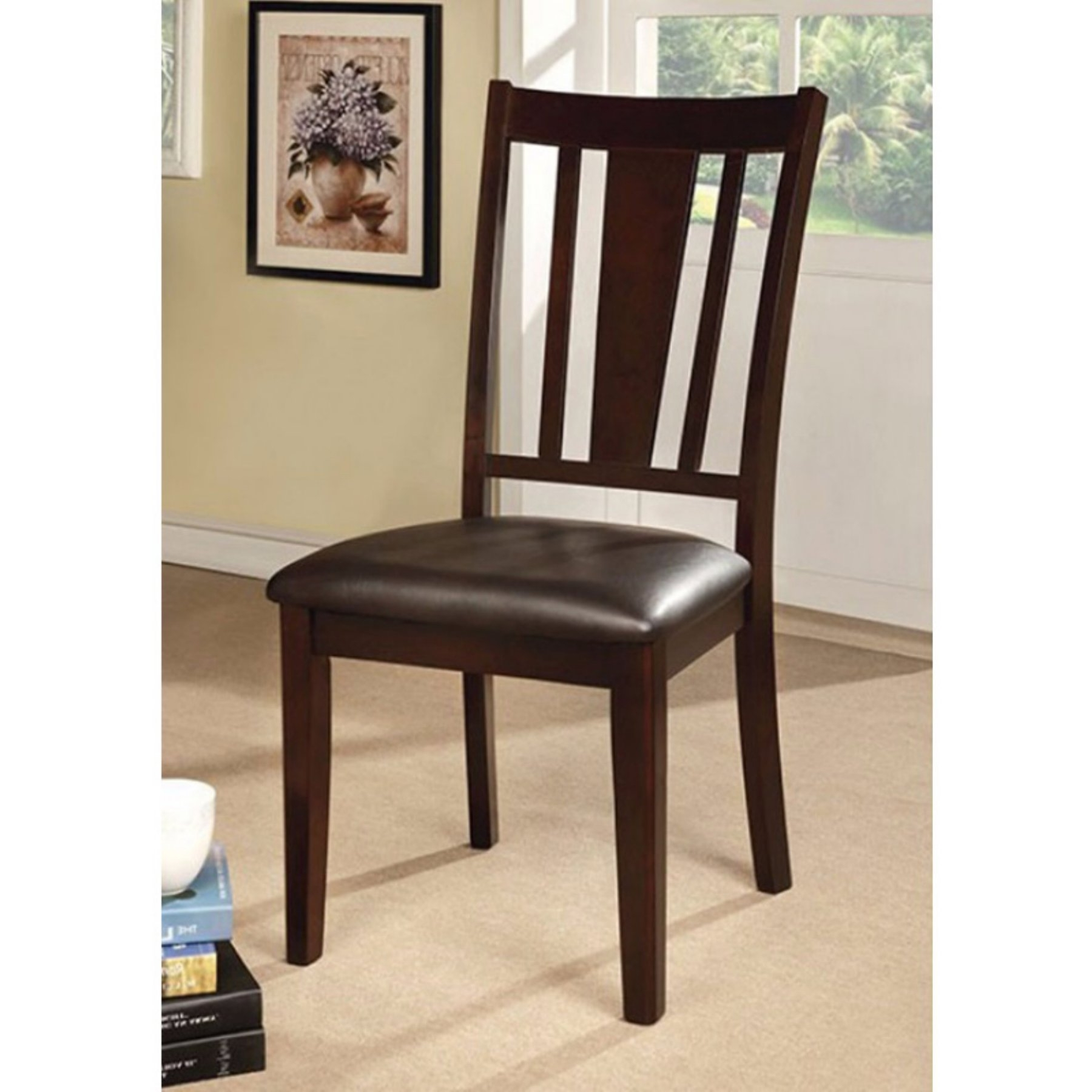 Benzara Bridgette I Slat Back Dining Side Chair – Set Of 2 In 2018 Throughout Fashionable Garten Onyx Chairs With Greywash Finish Set Of  (View 2 of 20)