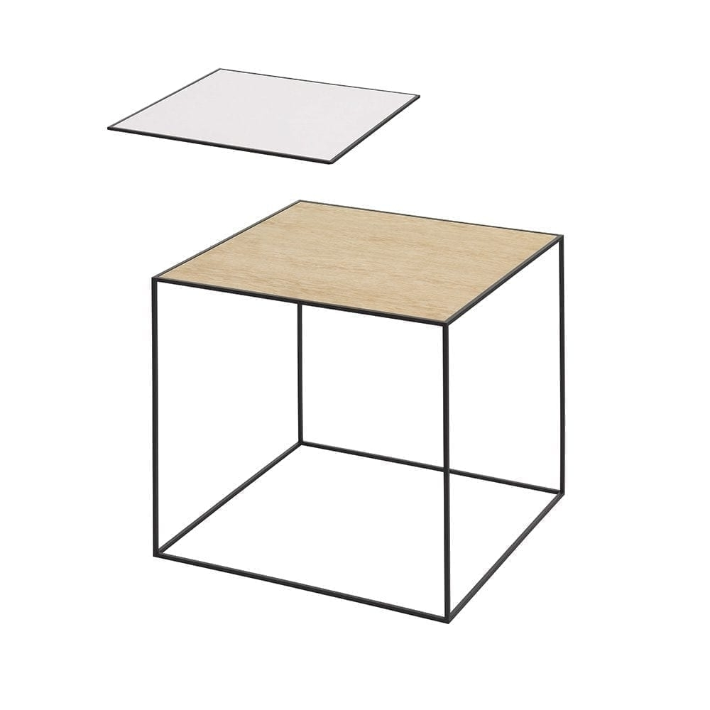 Best And Newest By Lassen Twin Black Side Table White/oak Wood Scandinavian Design Within Lassen Side Chairs (View 20 of 20)