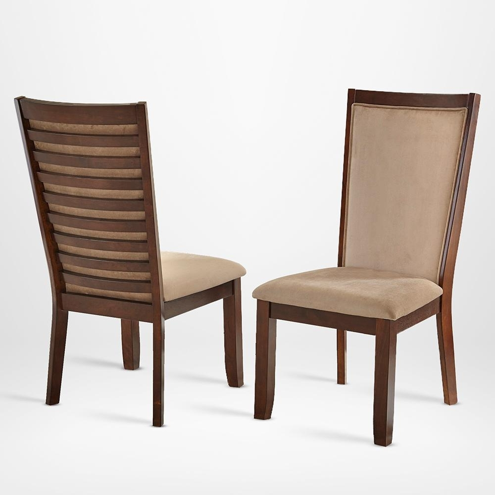 Best And Newest Caira Black Upholstered Side Chairs Intended For Steve Silver Brianna Side Chair Camel (set Of 2) Cn600sc – The Home (View 11 of 20)