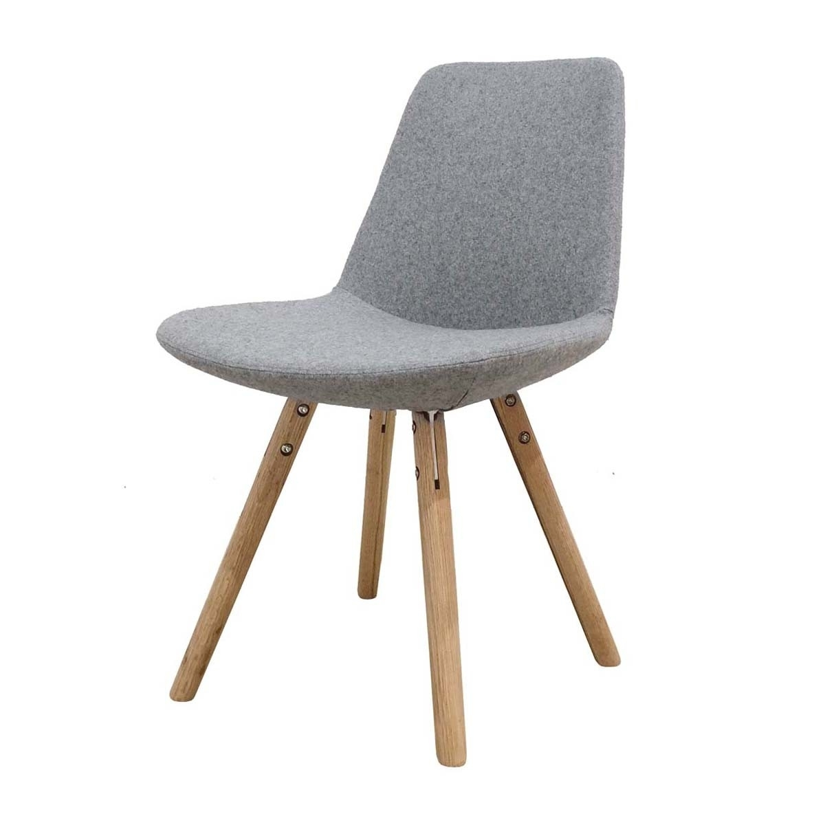 Best And Newest Grey Dining Chairs Regarding Life Interiors – Parker Wooden Dining Chair (Oak, Grey) – Modern (View 3 of 20)