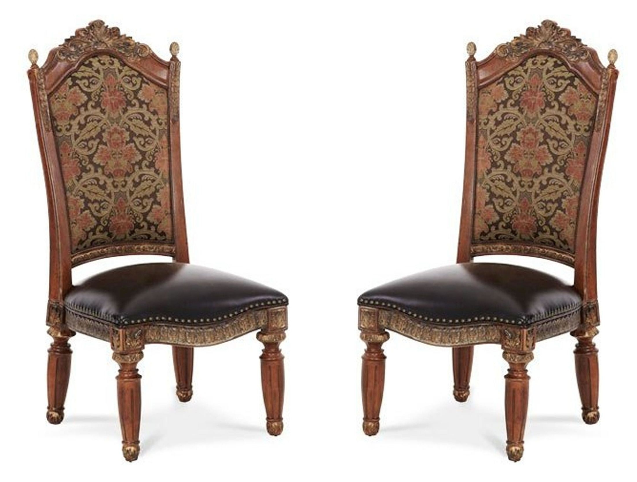 Best And Newest Villa Valencia Side Chair Set Of 2 From Aico (72003 55) (View 2 of 20)