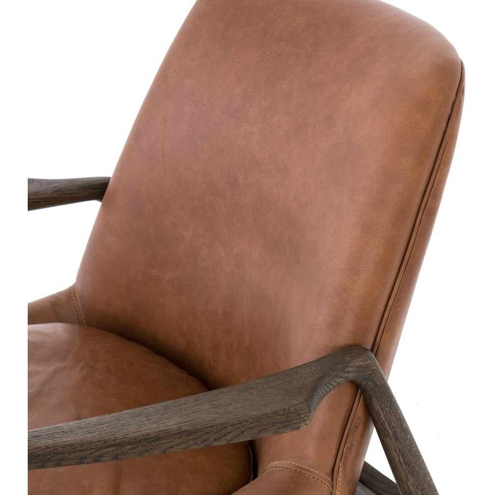 Braden Leather Chair, Brandy – Leather – Chairs – Furniture Pertaining To Current Durango Smoke & Warm Cedar Dining Chairs (View 2 of 20)