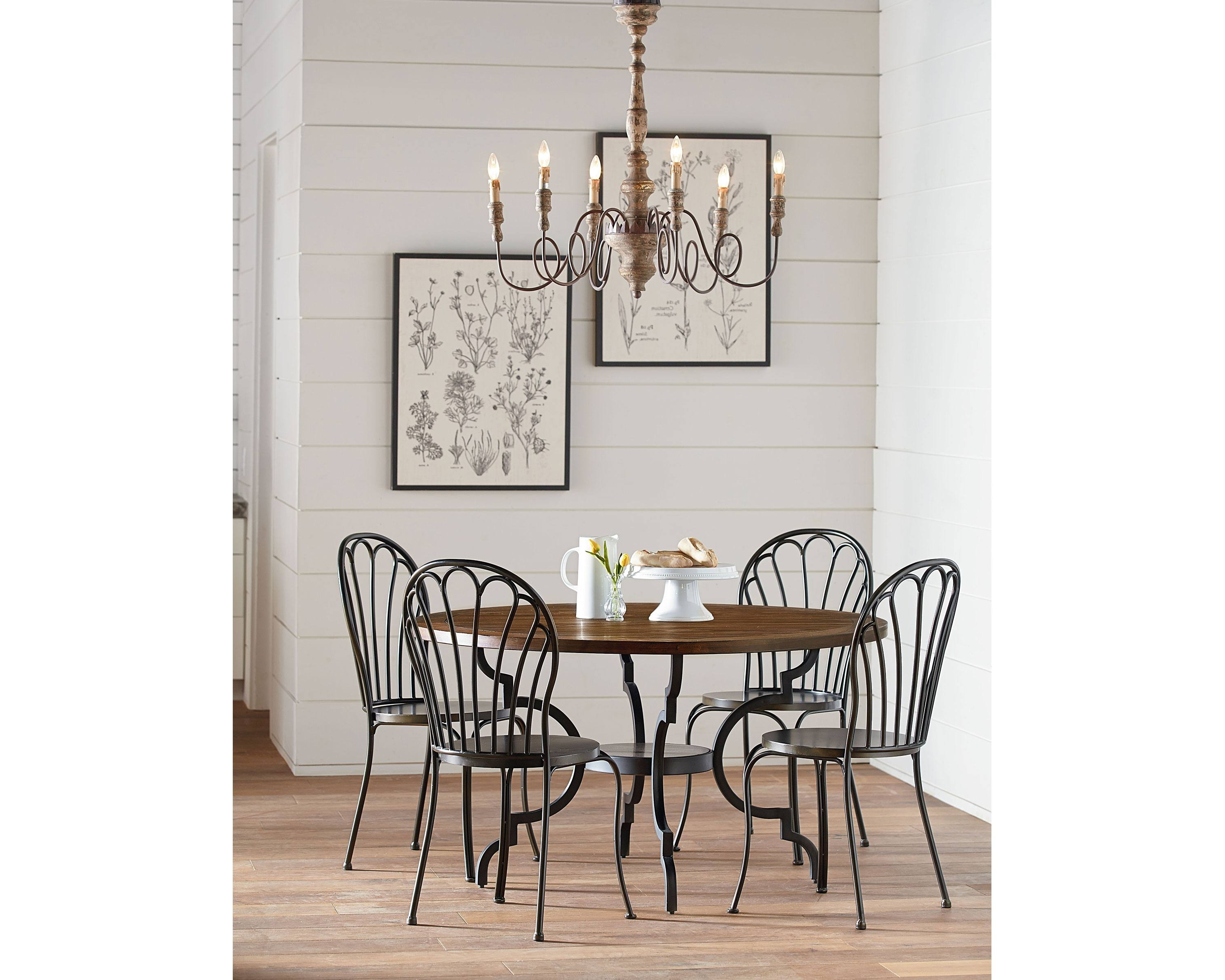 Breakfast + Peacock – Magnolia Home Regarding 2017 Magnolia Home Peacock Blackened Bronze Metal Side Chairs (View 3 of 20)
