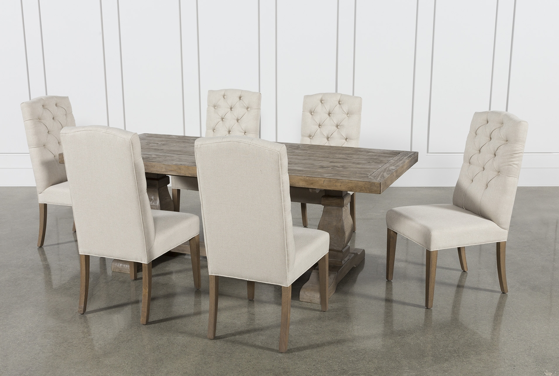 Caden 7 Piece Dining Set With Upholstered Side Chair (View 4 of 20)