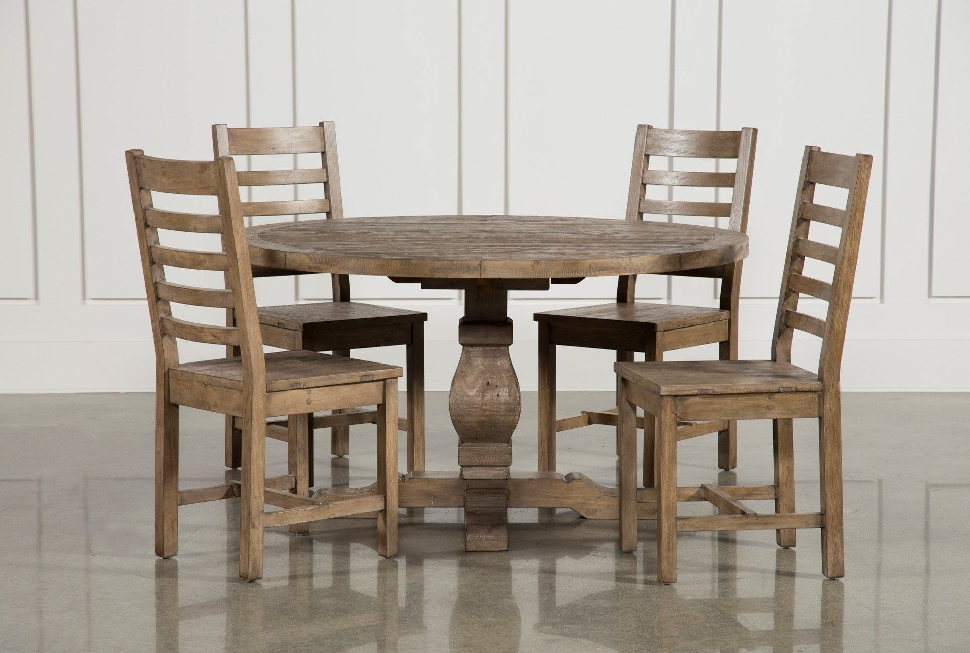 Caden Side Chairs With Regard To Fashionable Caden 5 Piece Round Dining Set, Natural (View 12 of 20)