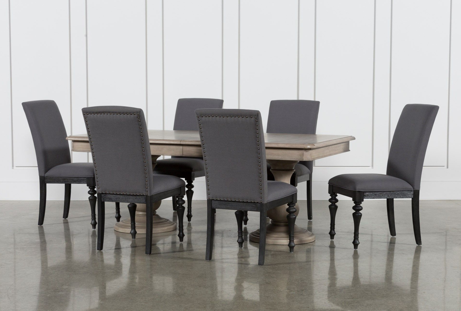Caira 7 Piece Rectangular Dining Set With Upholstered Side Chairs Inside Recent Caira Black Upholstered Side Chairs (View 5 of 20)