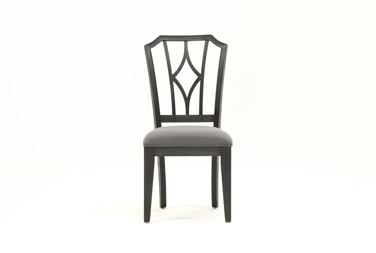 Caira Black Upholstered Diamond Back Side Chair (View 7 of 20)